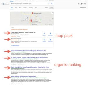 organic ranking and map pack ranking SEO agency Fort Worth