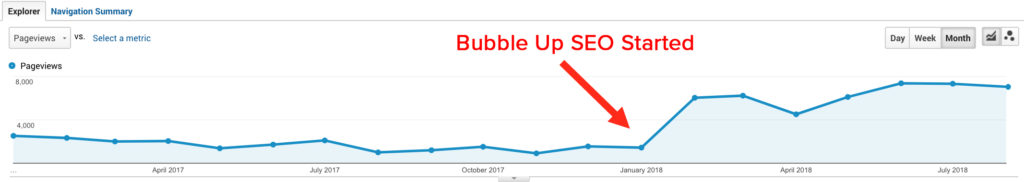 Bubble Up SEO Proof 1