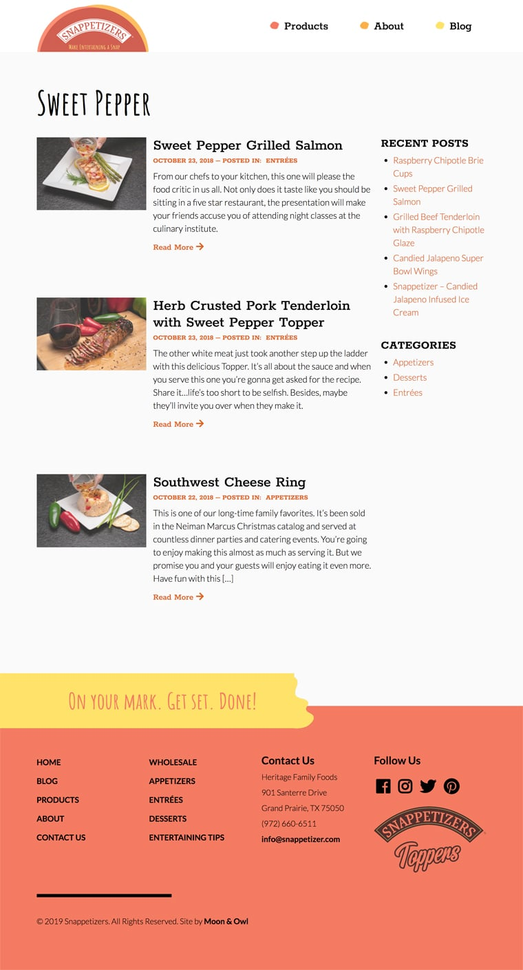 snappetizers fort worth web design